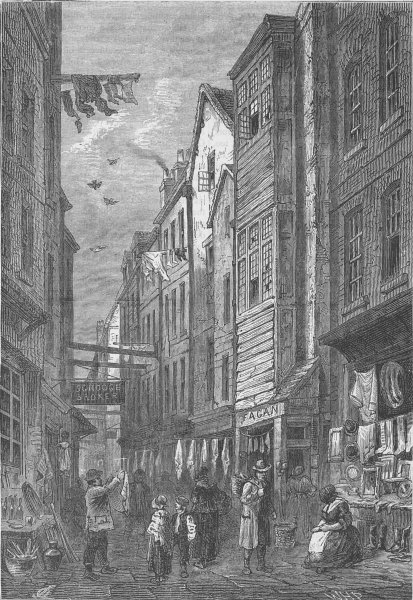 Associate Product HOLBORN VIADUCT. Field Lane about 1840. London c1880 old antique print picture