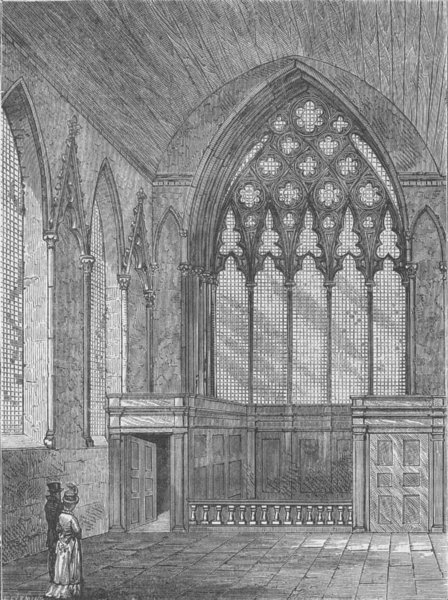 Associate Product ELY PLACE. Ely chapel in 1800. London c1880 old antique vintage print picture