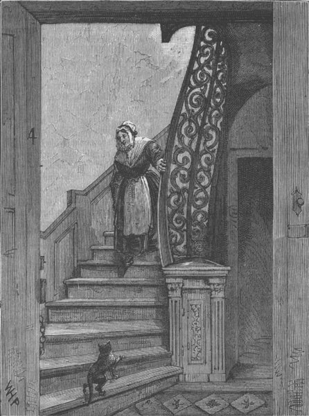 Associate Product BLOOMSBURY. Staircase in Southampton House. London c1880 old antique print