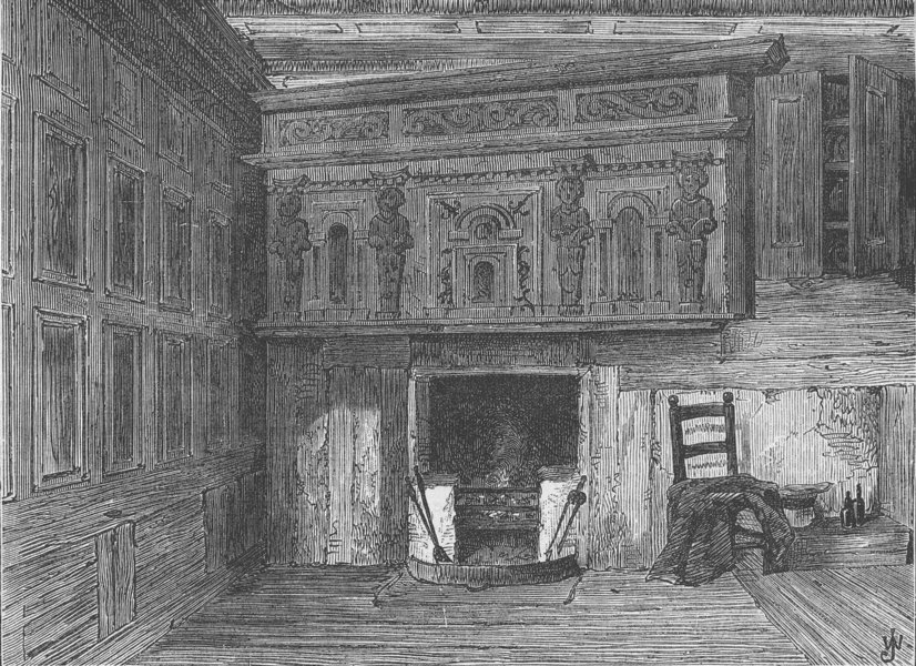 Associate Product GRAY'S INN. Room of a House in Fulwood's rents (after Archer). London c1880