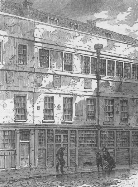 Associate Product HOLBORN. Chatterton's House in Brooke Street. London c1880 old antique print