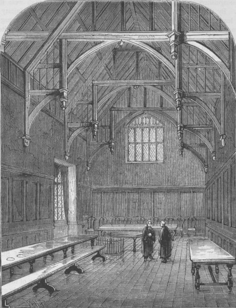 Associate Product THE HOLBORN INNS OF COURT AND CHANCERY. The Hall of Gray's Inn. London c1880