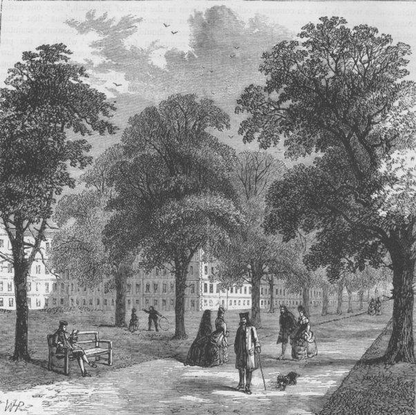 Associate Product THE HOLBORN INNS OF COURT AND CHANCERY. Gray's Inn Gardens, 1770. London c1880