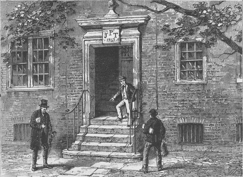 Associate Product THE HOLBORN INNS OF COURT AND CHANCERY. Doorway in staple Inn. London c1880