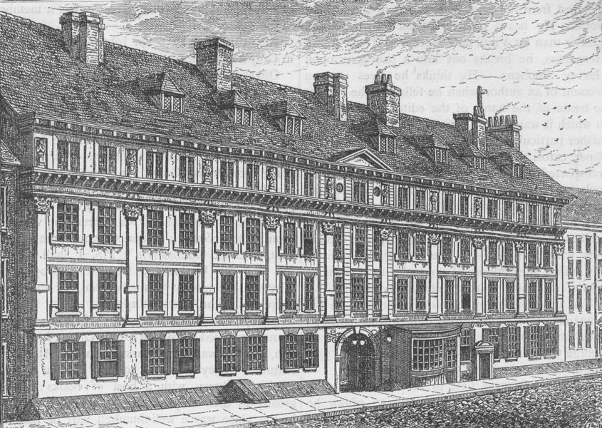 Associate Product THE HOLBORN INNS OF COURT AND CHANCERY. Exterior of Furnival's Inn, 1754 c1880