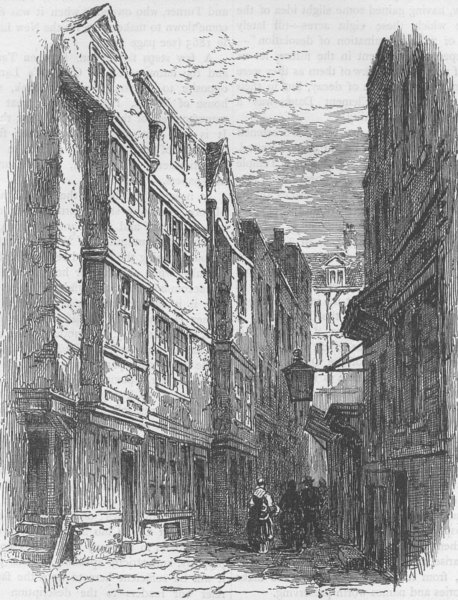 Associate Product LINCOLN'S INN. Serle's Place, before its demolition. London c1880 old print