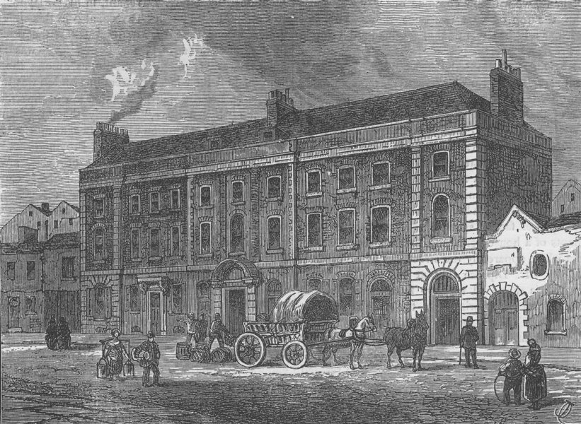 Associate Product KINGSWAY/ALDWYCH. The Theatre in Portugal Street. London c1880 old print