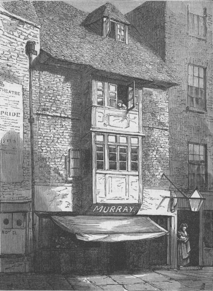Associate Product ALDWYCH. Old Houses in Wych Street. London c1880 antique print picture