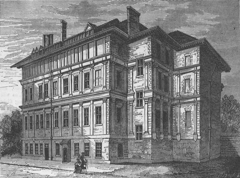 Associate Product DRURY LANE. Old Craven House (1800). London c1880 antique print picture
