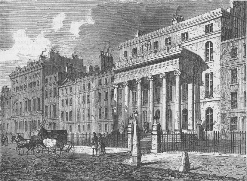 Associate Product LINCOLN'S INN FIELDS. Hall of the Royal College of Surgeons. London c1880