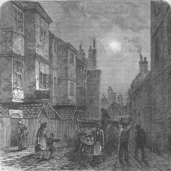 Associate Product THE STRAND. Milford Lane in 1820. London c1880 old antique print picture