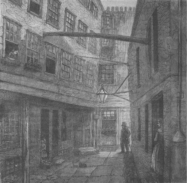 Associate Product THE STRAND. Golden buildings. London c1880 antique vintage print picture