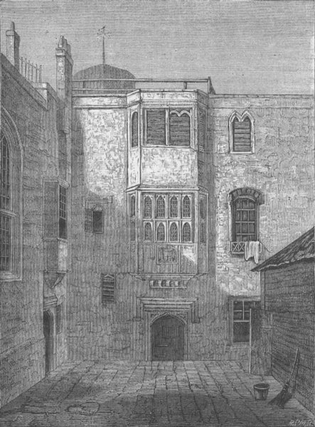 Associate Product ST. MARY-LE-STRAND. The Savoy Hotel (FP Neale, 1815). London c1880 old print