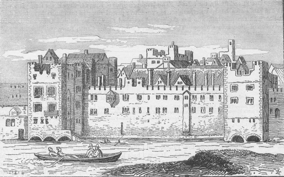 Associate Product THE SAVOY. The Savoy in 1650 (from a very scarce etching by Hollar) c1880