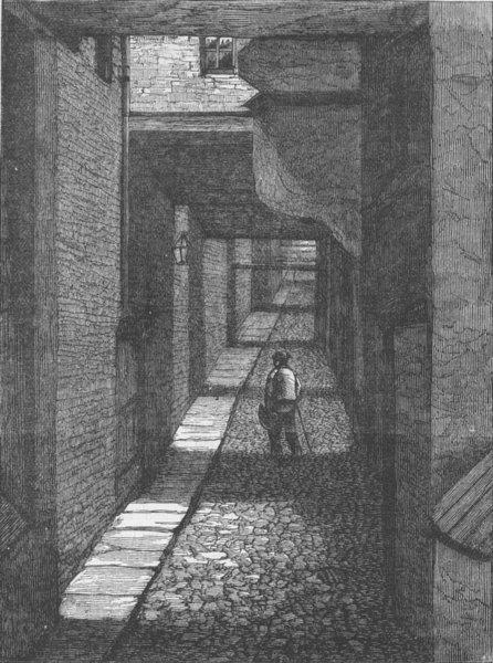 Associate Product THE STRAND. Ivy bridge Lane. London c1880 old antique vintage print picture