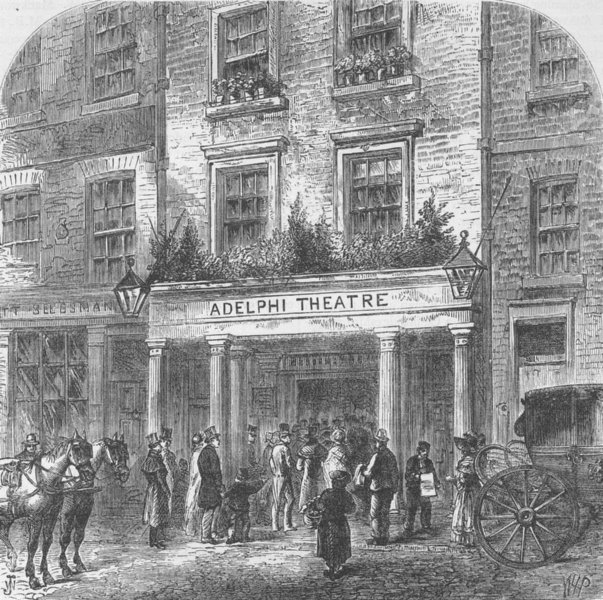 Associate Product THE STRAND. The old Adelphi Theatre. London c1880 antique print picture