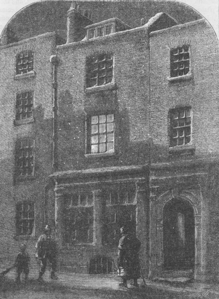 Associate Product THE STRAND. Turner's House in Maiden Lane  c1880 old antique print picture