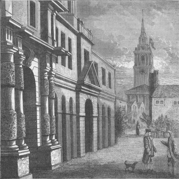 Associate Product CHARING CROSS. The Royal/King's Mews in 1750 (after Wale). London c1880 print