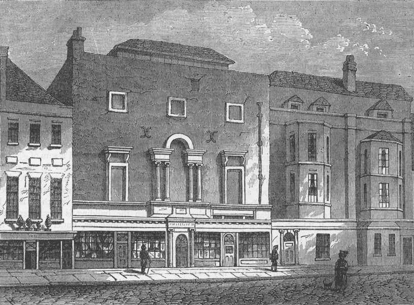 ST.MARTIN'S-IN-THE-FIELDS. The first Royal Academy, about 1740. London c1880