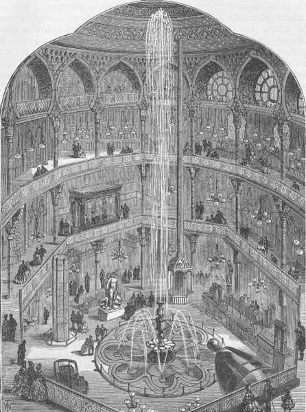Associate Product LEICESTER SQUARE. The Panopticon, in 1854. London c1880 old antique print