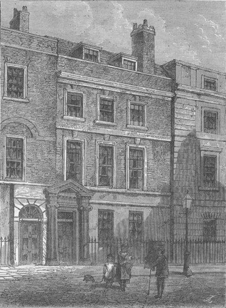 Associate Product SOHO. Dryden's House. London c1880 old antique vintage print picture