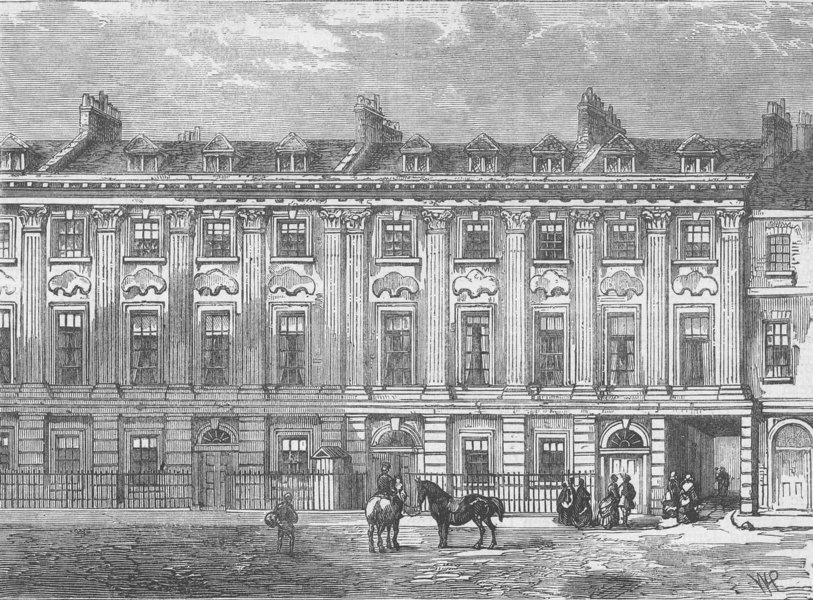 ST.GILES'S-IN-THE-FIELDS PARISH. Old Houses in Great Queen Street. London c1880