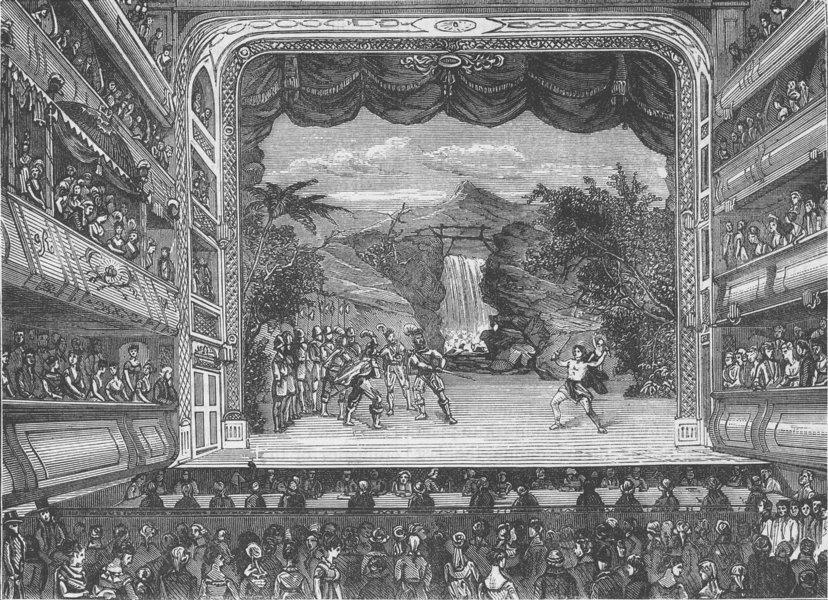 Associate Product COVENT GARDEN THEATRE. Interior of Covent Garden Theatre in 1804. London c1880