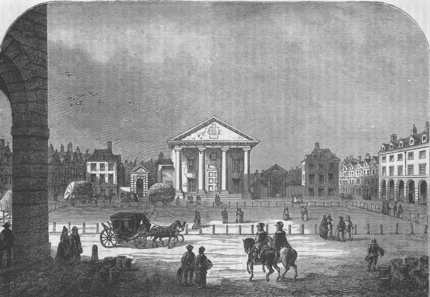Associate Product COVENT GARDEN THEATRE. Covent Garden in 1660. London c1880 old antique print