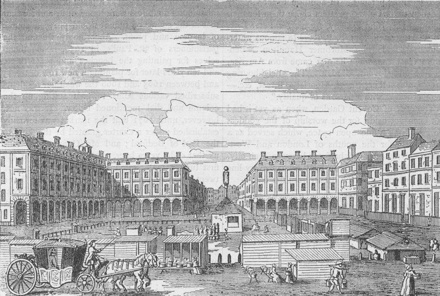 Associate Product COVENT GARDEN MARKET. Looking eastward in 1786. London c1880 old antique print