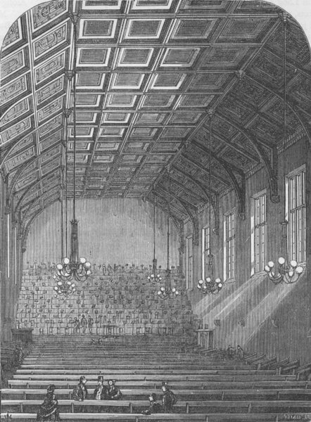 Associate Product COVENT GARDEN. Interior of St.Martin's Hall. London c1880 old antique print