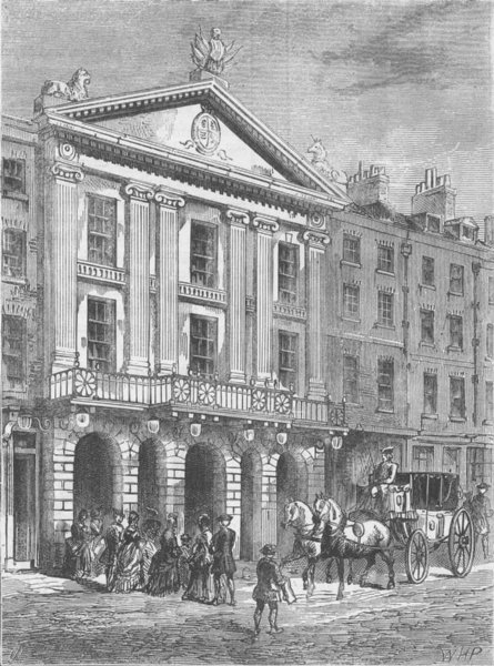 Associate Product ST.GILES'S-IN-THE-FIELDS PARISH. Front of Old Drury Lane Theatre. London c1880