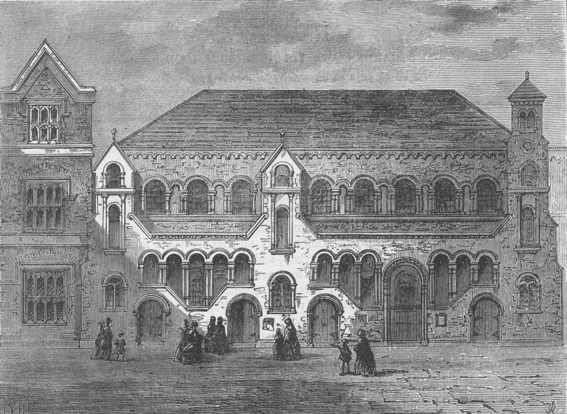 Associate Product COVENT GARDEN. The Scotch National Church, Crown Street. London c1880 print