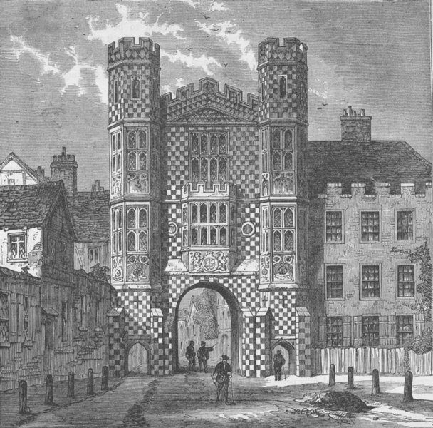 Associate Product WHITEHALL. The Holbein Gateway, Whitehall. London c1880 old antique print