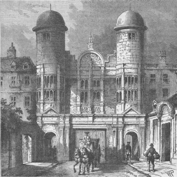 Associate Product WHITEHALL. The King Street Gateway, Whitehall. London c1880 old antique print