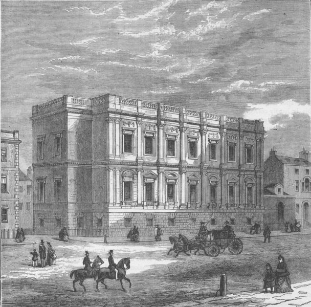 Associate Product WHITEHALL. The Chapel Royal, Whitehall, exterior. London c1880 old print
