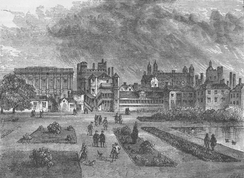 Associate Product WHITEHALL. The horse guards, from St.James's Park (Temp. Charles II) c1880