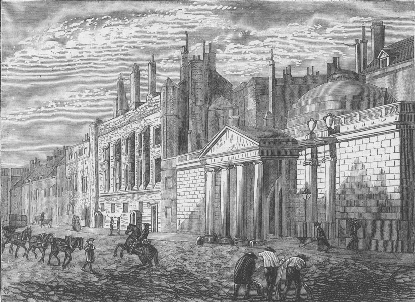 Associate Product WHITEHALL. York House in 1795 (from a view published by Colnaghi). London c1880