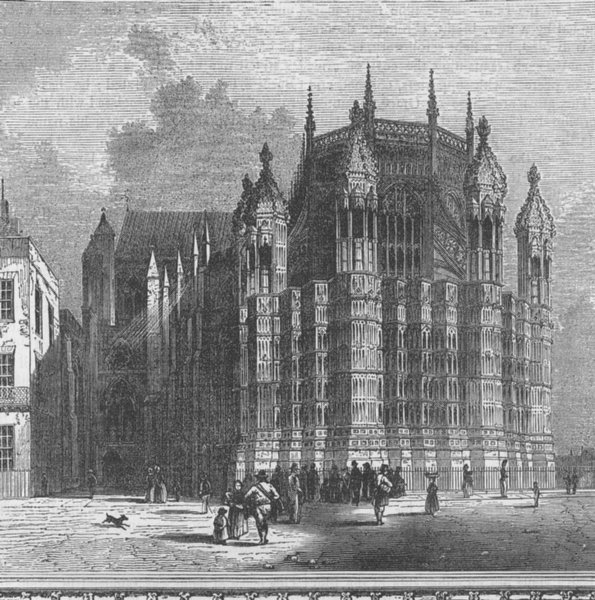 Associate Product WESTMINSTER ABBEY. King Henry VII's chapel. London c1880 old antique print