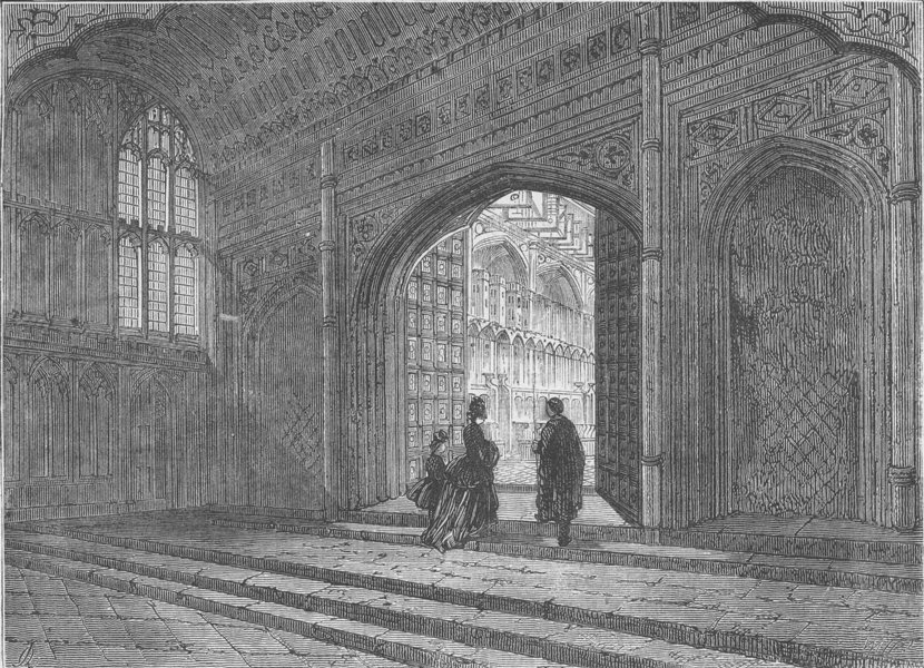 Associate Product WESTMINSTER ABBEY. Interior of King Henry VII.'s chapel. London c1880 print