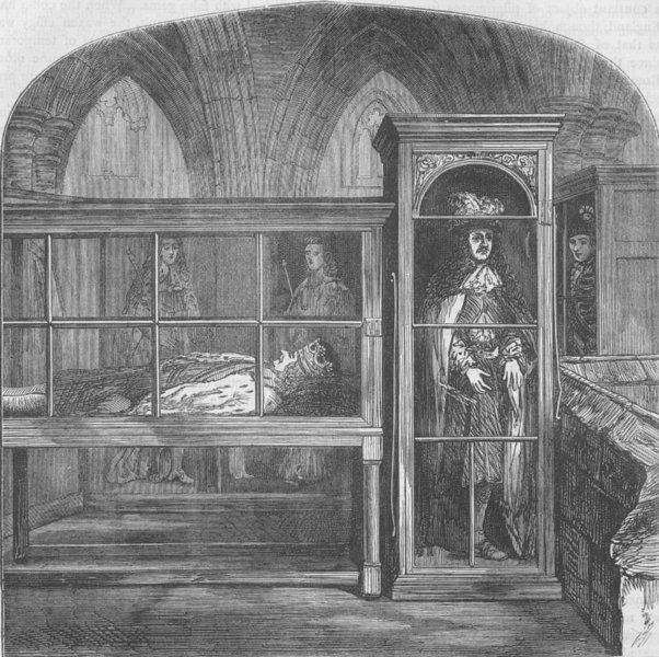 Associate Product WESTMINSTER ABBEY. The wax figures in Westminster Abbey. London c1880 print