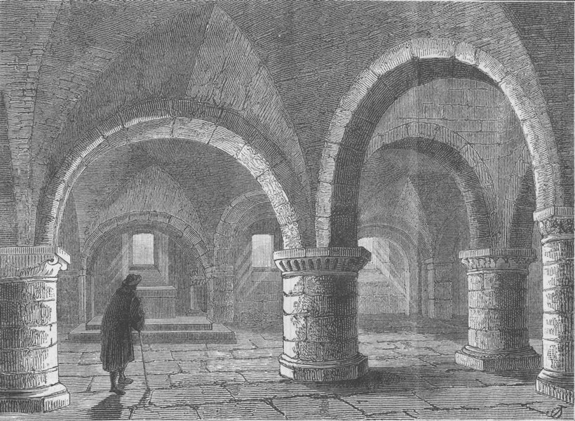 Associate Product WESTMINSTER ABBEY. The chapel of the Pyx. London c1880 old antique print