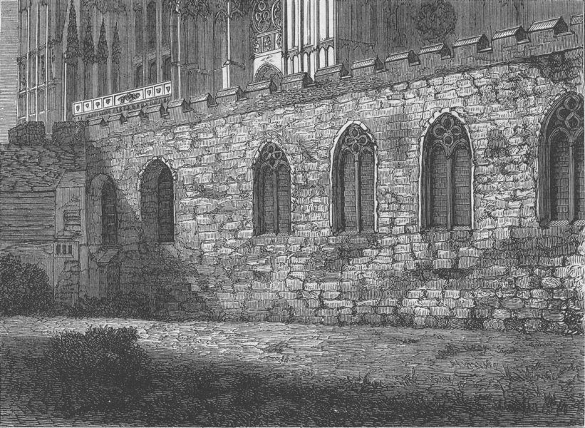 Associate Product WESTMINSTER SCHOOL. The Jerusalem chamber. London c1880 old antique print