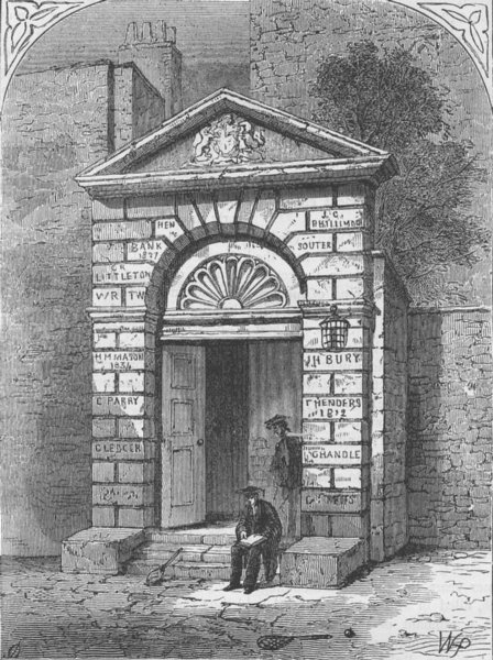 Associate Product WESTMINSTER SCHOOL. Entrance to Westminster School. London c1880 old print