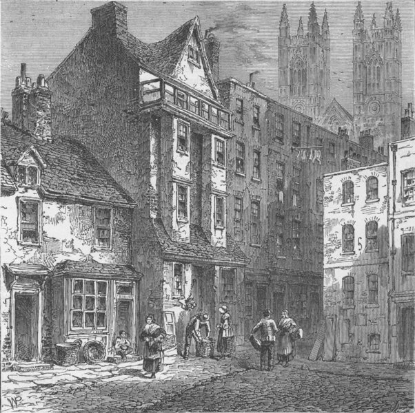 Associate Product WESTMINSTER. Caxton's House. London c1880 old antique vintage print picture