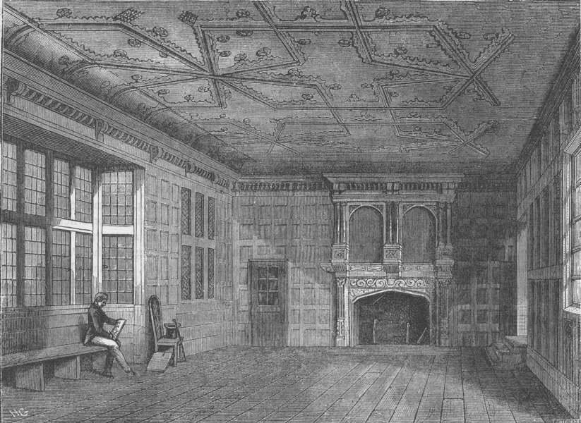 Associate Product THE ROYAL PALACE OF WESTMINSTER. The Star Chamber in 1863. London c1880 print