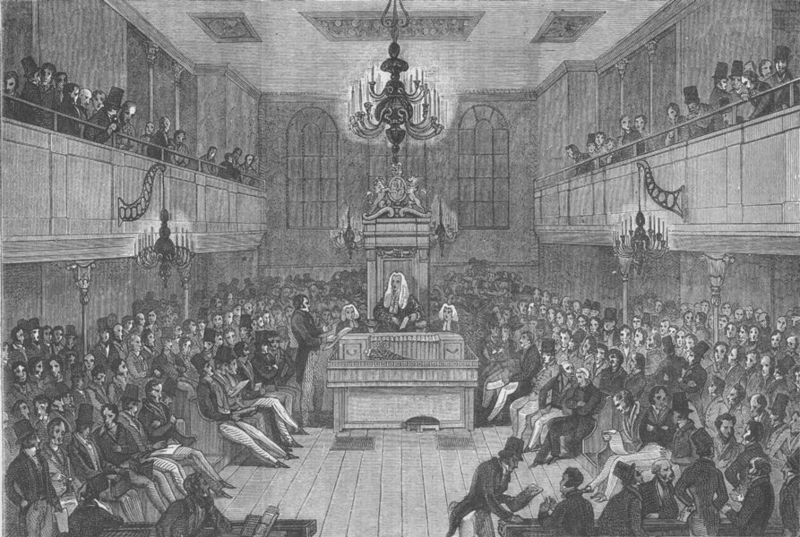 Associate Product THE ROYAL PALACE OF WESTMINSTER. Interior of the House of Commons, 1834 c1880
