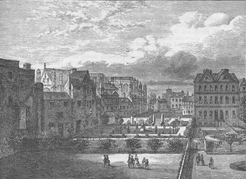 Associate Product WESTMINSTER. Palace Yard, from the South (from a view by Canaletto) c1880
