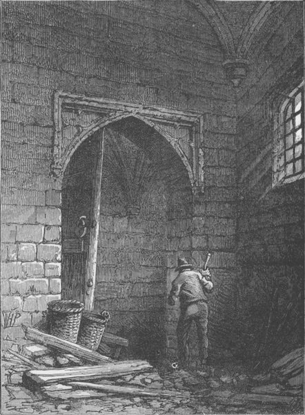 Associate Product WESTMINSTER HALL. Guy Fawkes's cellar. London c1880 old antique print picture