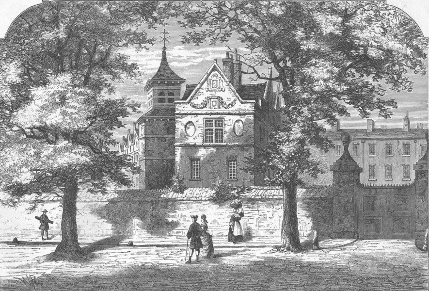 Associate Product MARYLEBONE. The Marylebone School-House in 1780. London c1880 old print