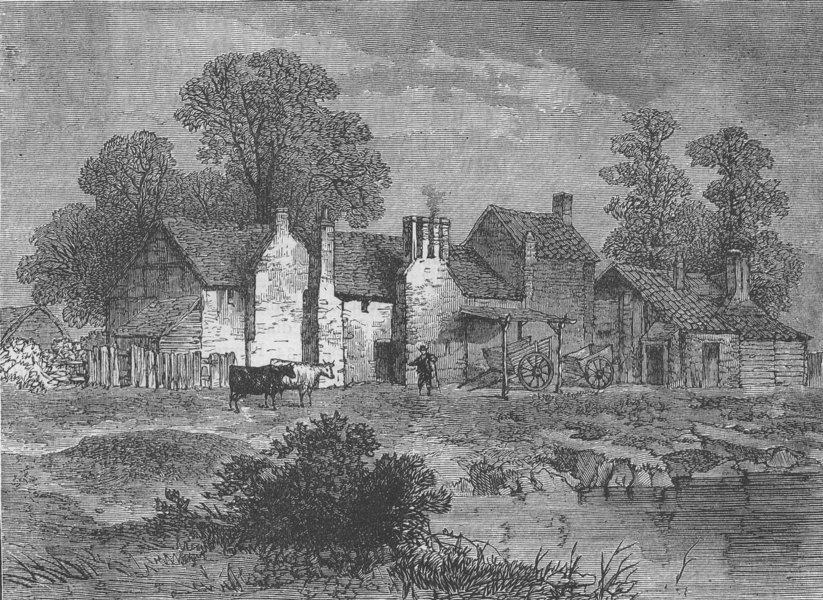 """Associate Product WESTMINSTER. The """"Five Houses"""", in 1796. London c1880 old antique print"""
